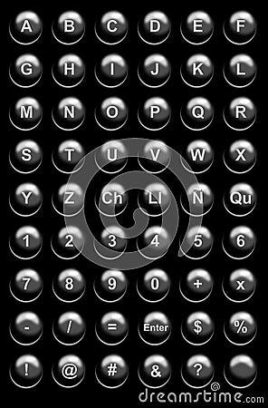 Black Website Buttons