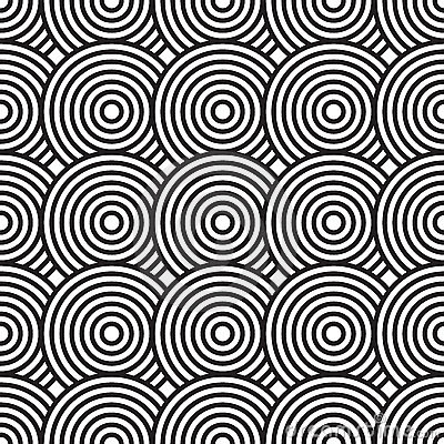 Black-and-white abstract background with circles
