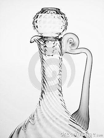 Black & White Abstract Glassware