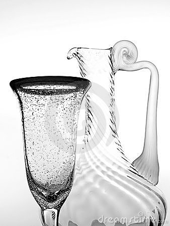 Black & White Abstract Glassware