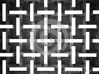 Black and white abstract prism structure