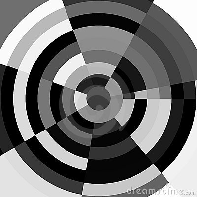 Black and white abstract target
