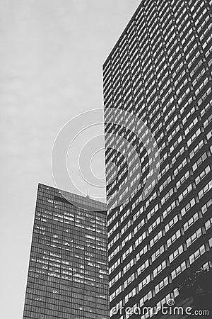 Black and white architecture in Boston