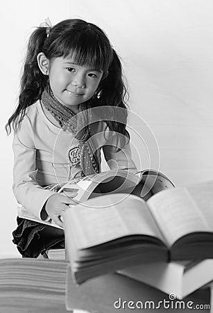 Black & white asian girl