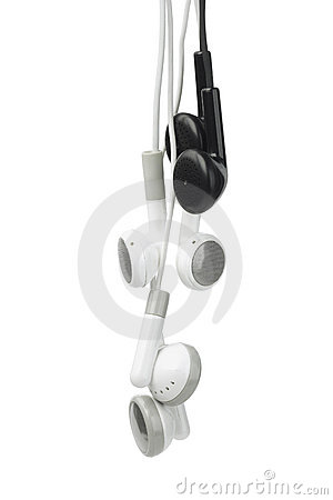 Black and White Audio Earphones