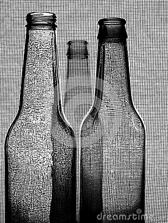 Black & White Beer Bottle Background