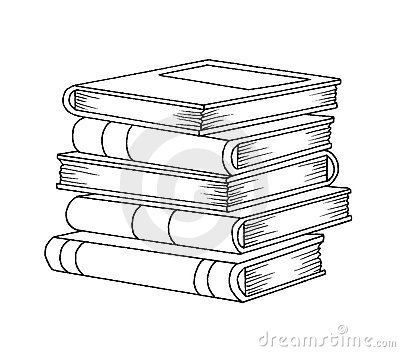 Black and white - books