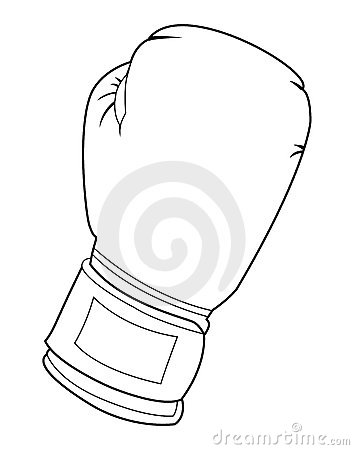 Black and white boxing glove