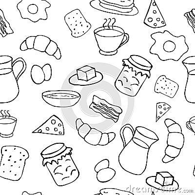 Black and white breakfast theme