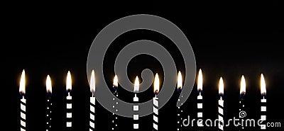 Black & White Burning Candles