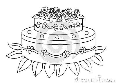 Black and white - cake
