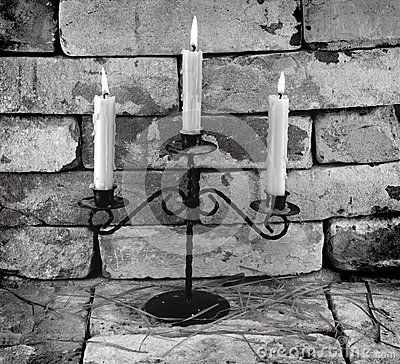 Black and white candles