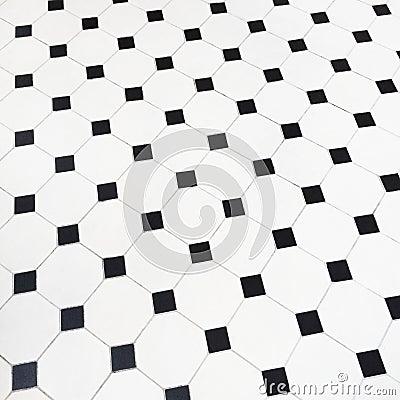 Black And White Ceramic Tiles Floor Stock Photo - Image: 45170834