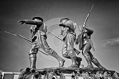 Black and White Charlottetown War Memorial