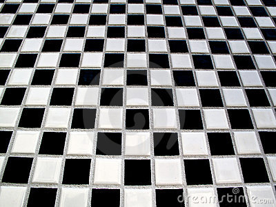 Black and white checkerboard