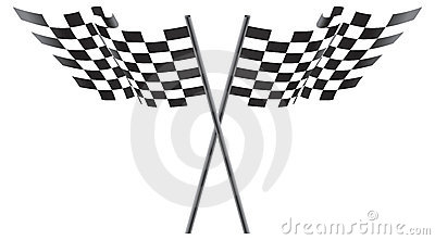 Black and White Checkered Flags Illustration