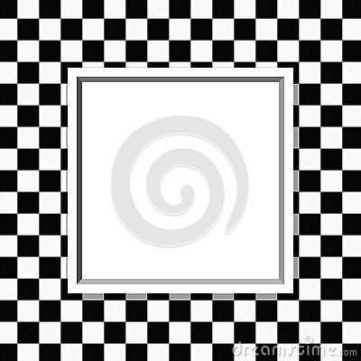 Black and white checkered frame with frame background Marcos de cuadros blancos