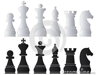 Black & White Chess Army