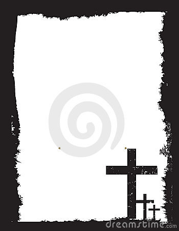 Black and white christian crucifix background