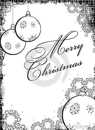 Black-white Christmass design