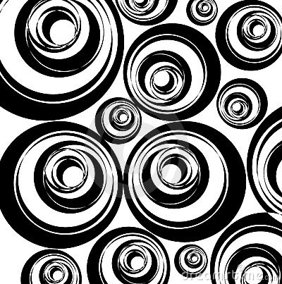 Black-white circles