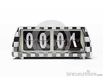 Black-and-white clock