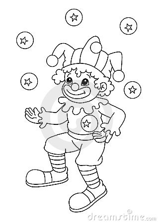 Black and white - clown