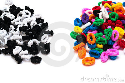 Black-and-white and color hair binders