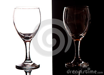 Black and white contrast wine glasses