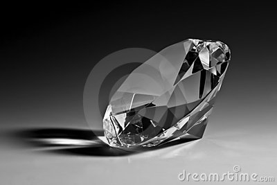 Black & white diamond close-up