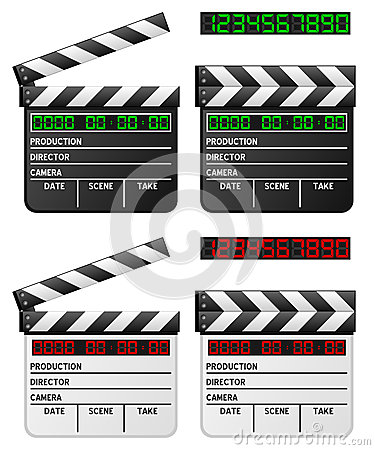 Black & White Digital Movie Clapper