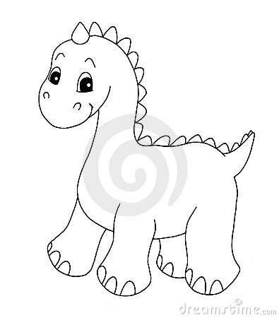 Black and white - dinosaur