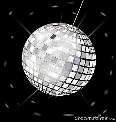 black-white disco ball