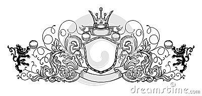 Black and white emblem