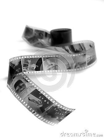 Black and white film negatives