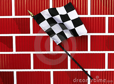 Black and White Finish Line Checkered Flag
