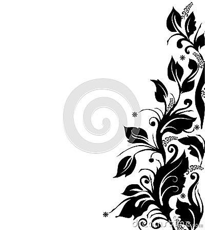 BLACK AND WHITE FLORAL BORDER Plenty