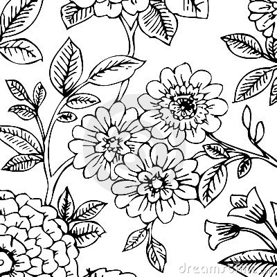 black and white floral wallpaper. BLACK/WHITE FLORAL WALLPAPER
