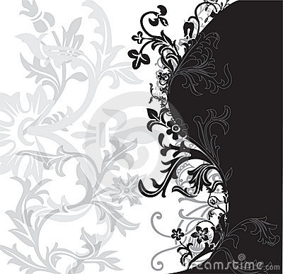 Black and White Flowery Patter
