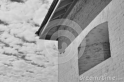 Black White Fort tower sky