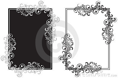 white and black frames stock photography image 11532412