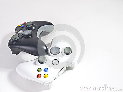 Black and white game controller