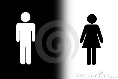 Black and white gender