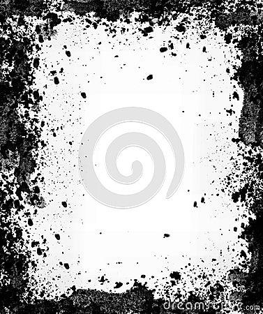 Royalty Free Stock Image: Black and white grunge border
