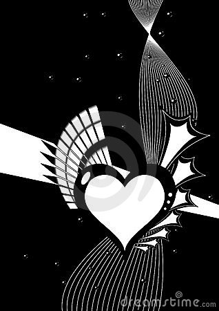 Black And White Heart Design Royalty Free Stock Images ...