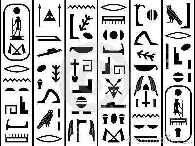Black and White Hieroglyphics