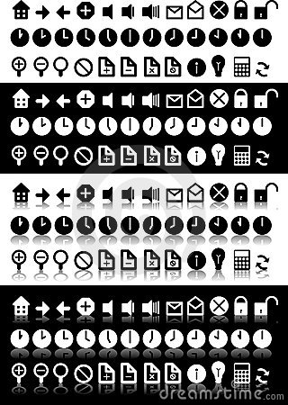 Black & White Icons