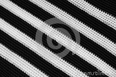Black and White Interlacing Bands Texture of Woven Canvas Fabric Stock Photo
