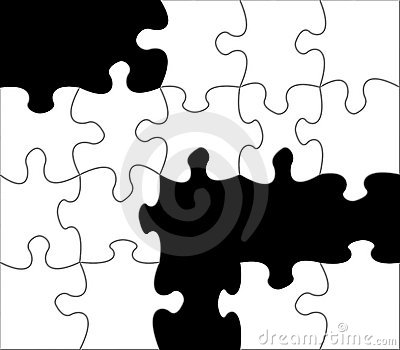 Black and white jigsaw