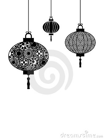 Black and white lanterns